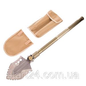 Лопата многофункциональная складная тактическая TY-6310 (нерж., хром. сталь, l-74см, р-р 13х16,5см, оливковый)