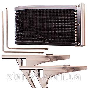 Сетка для настольного тенниса с клипсовым креплением DONIC МТ-808335 Clipmatic (металл, NY, PVC чехол)