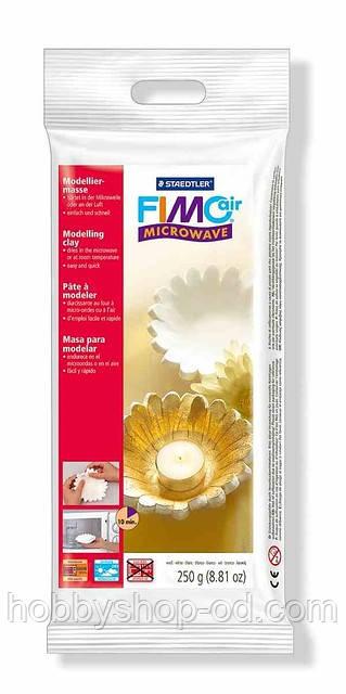 FIMOair microwave полімерна глина,придатна для запікання в мікр. печі та самоотвердевания на повітрі біла