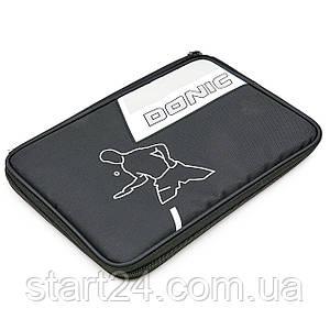 Чехол на ракетку для настольного тенниса прямоугольный DONIC MT-818532 SALO (нейлон, цвет черный, р-р 30х21см)