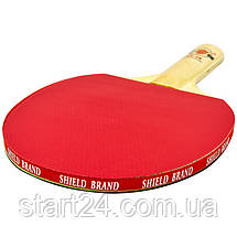 Ракетка для настільного тенісу 1 штука в кольоровій коробці SHIELD BRAND MT-8389 (деревина,гума), фото 2