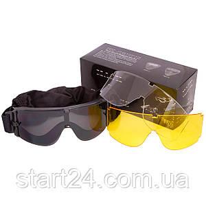 Окуляри тактичні прозорий візор TY-X800