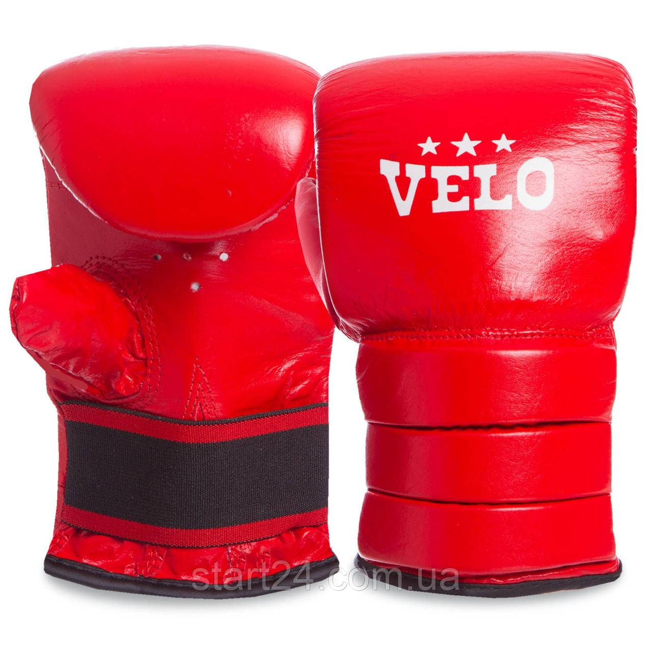 Снарядні рукавички Шкіра VELO ULI-4003 (р-р S-XL, кольори в асортименті)