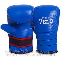 Снарядні рукавички Шкіра VELO ULI-4003 (р-р S-XL, кольори в асортименті), фото 2