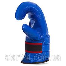 Снарядні рукавички Шкіра VELO ULI-4003 (р-р S-XL, кольори в асортименті), фото 3