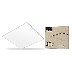 LED панель матовая VIDEX 60*60 40W 6200K 3600Lm белая рамка VL-P406W (светодиодный светильник)