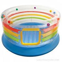 Детский игровой центр батут надувной с мячами INTEX 48264 (182Х86 СМ.)