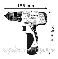 BOSCH GSR 1080-2-LI Professional - Аккумуляторная дрель-шуруповерт, чемодан, 1,5 А*ч, фото 2