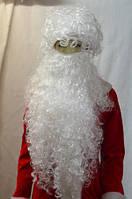 Большая борода Деда Мороза с париком 85 см.