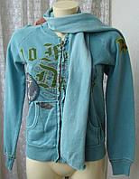 Кофта женская модная с шарфиком бренд 10 Feet р.42-44 4642