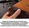 """Чохол книжка з натуральної шкіри протиударний магнітний для Samsung A20 А205F """"CLASIC"""", фото 3"""
