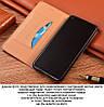 """Чохол книжка з натуральної шкіри протиударний магнітний для Samsung A20 А205F """"CLASIC"""", фото 6"""