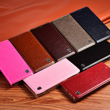 "Чохол книжка з натуральної мармурової шкіри протиударний магнітний для Samsung A20 А205F ""MARBLE"""