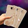 """Чохол зі стразами силіконовий прозорий протиударний TPU для Samsung A20 А205F """"DIAMOND"""", фото 7"""