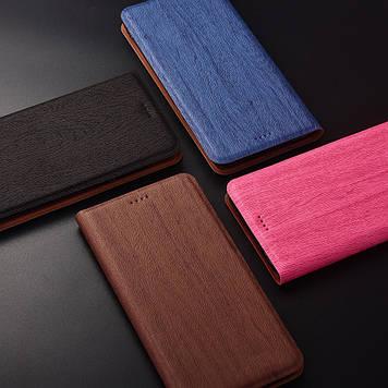 """Чохол книжка з текстурою дерева з позов. шкіри для Samsung A80 """"WOODER"""""""