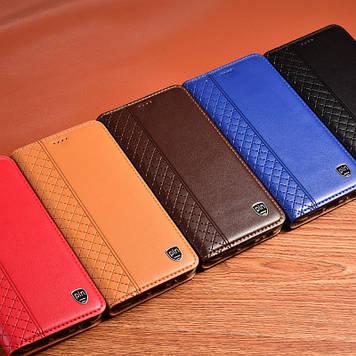 "Чохол книжка з натуральної шкіри магнітний протиударний для Samsung A80 ""BOTTEGA"""