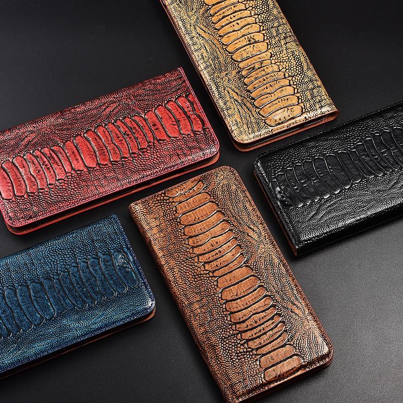 """Чохол книжка з натуральної LUX шкіри магнітний протиударний для Samsung A70 А705F """"ZENUS"""""""