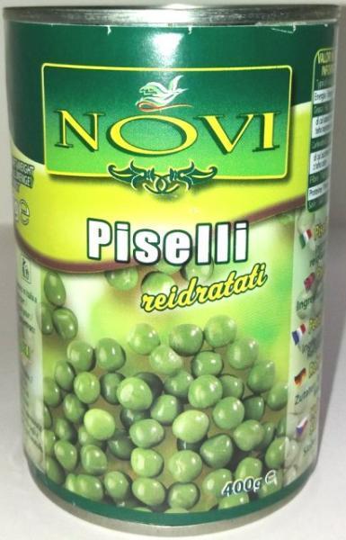 Горошек зеленый Novi Piselli reidratati 400 г