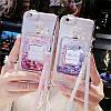 """Силиконовый чехол со стразами жидкий противоударный TPU для Samsung A70 А705F """"MISS DIOR"""", фото 4"""
