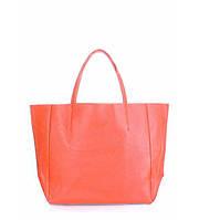 Сумка женская кожаная POOLPARTY Soho Leather Soho Bag коралловая, фото 1