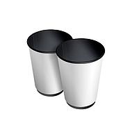 Паперові стакани 350 (400) мл Євро, ДаблВол, двошаровий, чорний зсередини, білий зовні, 25 шт./рук (арт 00791)