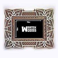 Фоторамка деревянная TWD Мандала  PF10003-hm раскраска на фото 10х15см, размер рамки 20х25см