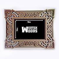 Фоторамка деревянная TWD Мандала  PF10001 готовая рамка на фото 10х15см, размер рамки 20х25см