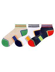 Носки для мальчика укороченные демисезонные (Полоска) BROSS (размер 1-3лет.)