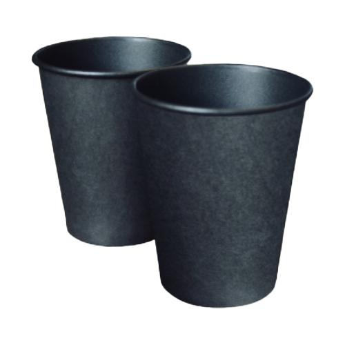 Паперові стакани 110 мл Євро, одношаровий, кольору Black, 50 шт./рукав (арт.00661)
