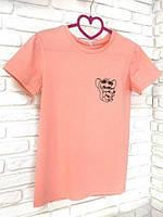 Женская футболка хлопок розовая с принтом Jerry джерри мышка Mouse SKL59-259637