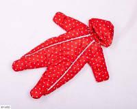 Детский демисезонный комбинезон-человечек красный SKL11-260895