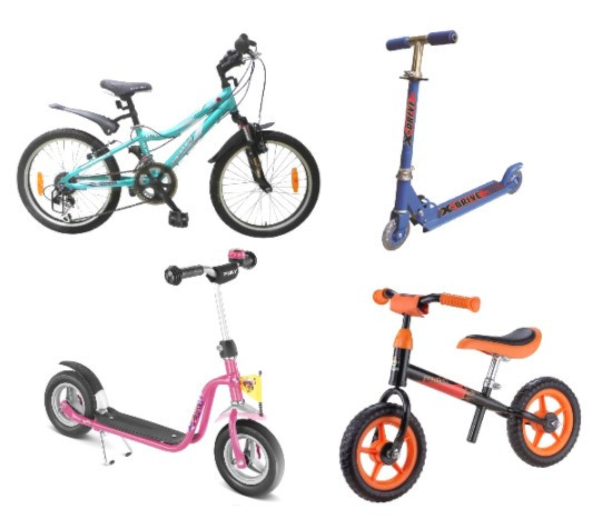 Самокаты, велосипеды