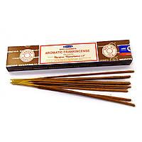 Аромапалочки Satya Ароматный Ладан, пыльцевые (Aromatic Frankincense) 15 грамм