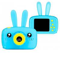 Цифровой фотик для детей Сhildren's fun camera Синий заяц, фотоапарат детский (дитячий фотоапарат) (SH), фото 1