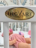 Круглая Кроватка трансформер 9в1 IngVart Smartbed Round декор, звездочки, фото 4