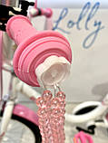 Двухколесный велосипед PROF1 Ballerina на 18 дюймов c корзинкой розовый, фото 4