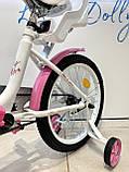 Двоколісний велосипед PROF1 Ballerina на 18 дюймів c кошиком рожевий, фото 5