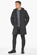 Куртка – воздуховик цвета графита мужской зимний модель 38012, фото 3