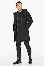Куртка – воздуховик зимний чёрный мужской модель 38012, фото 2