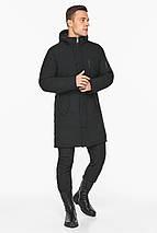 Куртка – воздуховик зимний чёрный мужской модель 38012, фото 3