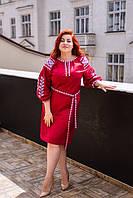 Сукня Азалія вишите полотно, стійка XXXL