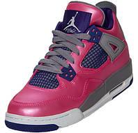 Женские баскетбольные кроссовки Air Jordan Retro 4 Pink