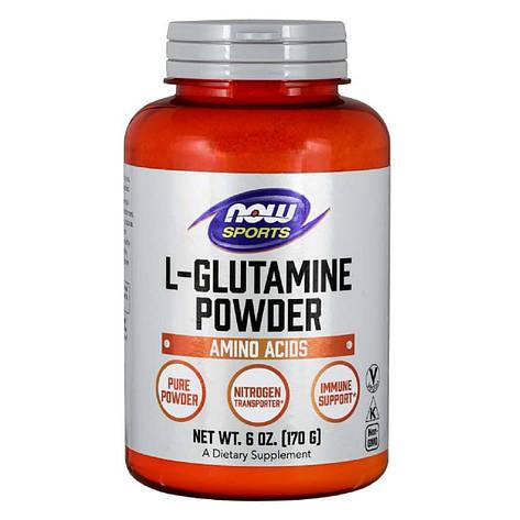 Глютамин в Порошке, L-Glutamine Powder, Now Foods, 170 гр., фото 2