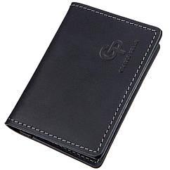 Обложка для ID-паспорта из натуральной кожи GRANDE PELLE 11203 Черная, КОД: 1674410