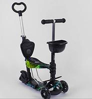 Самокат - беговел 5 в1 Best Scooter с родительской ручкой и подножками