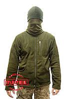 Куртка флисовая Хаки с нагрудным карманом, фото 1