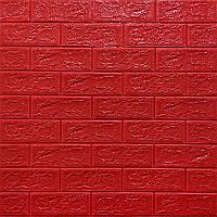 Самоклеюча декоративна 3D панель Цегла червоний 700х770х5мм Os-BG08-5