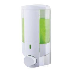 Диспенсер нажимной для мыла на стену в ванную STORM EXCELLA 1 ST0055 белый пластик 350мл 81436