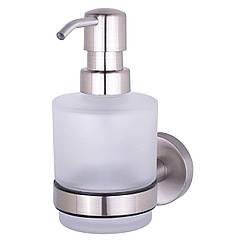 Дозатор для моющего средства настенный HACEKA Kosmos TEC 1120417 сатин 200мл стекло 84933
