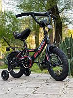 """Велосипед 12 дюймів двоколісний """"CORSO"""" CL-12854 Чорно-червоний, Дитячий двоколісний велосипед, фото 1"""